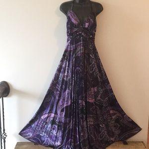 Boho style Pleated Halter Maxi Dress